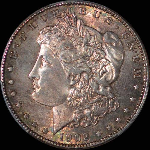 MS64 1902-O Morgan Dollar toned