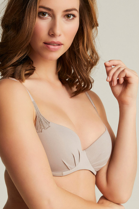 Femilet Filippa Covering T Shirt Bra - Mineral Grey