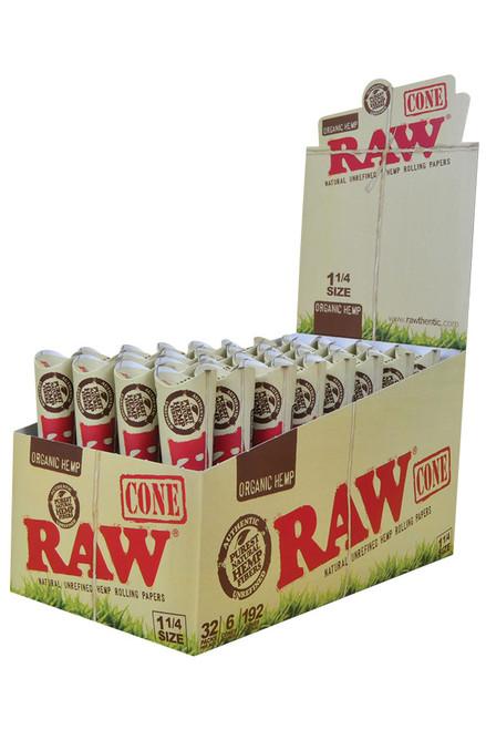 RAW - Organic Hemp Cones - 32 Pack Display