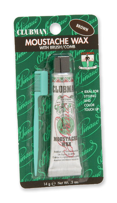 Clubman Moustache Wax, Brown, 0.5 oz