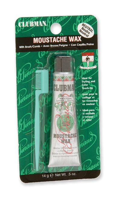 Clubman Moustache Wax, 0.5 oz