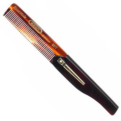 Kent - #20T Folding Comb w/ Pocket Clip, Fine