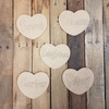 "6"" Tiny Engraved Name Hearts with Grinched Font for Grandma's Sweethearts Valentine Decor Set"