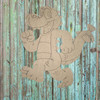 Marching Alligator, Unfinished Wood Cutout, Paint by Line, WS