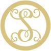 Circle Letter Framed Monogram WS