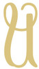 Monogram Lowercase Letter WS