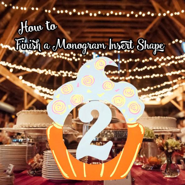 Cupcake Monogram Insert Blog