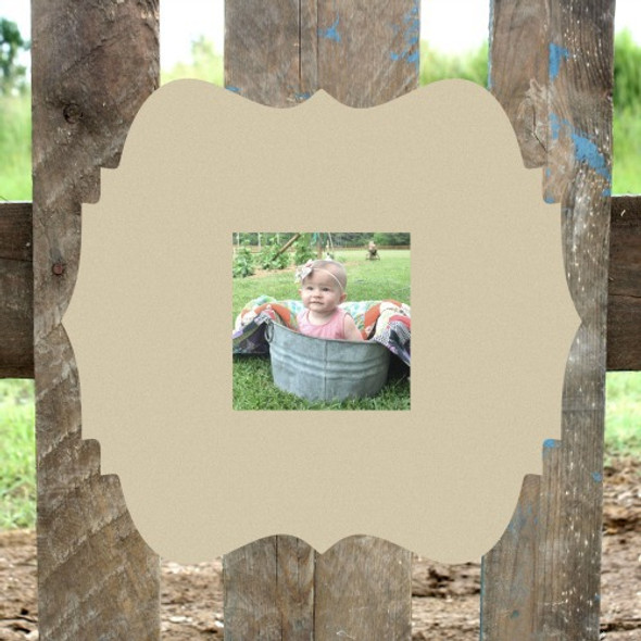 Unfinished Cleopatra Picture Frame 4 x 4 WS