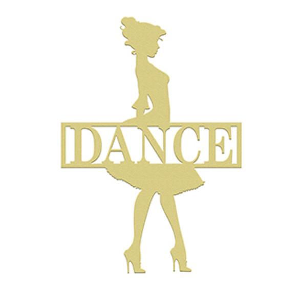Dance Frame Family Name, Unfinished Framed Monogram WS