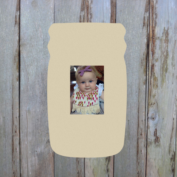 Mason Jar Picture Frame WS