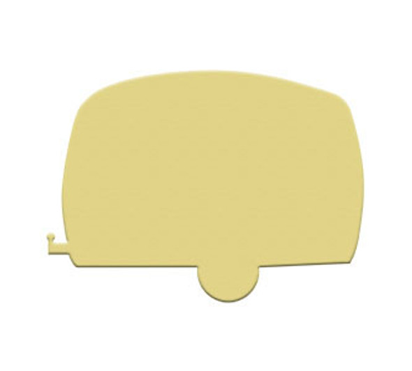 Retro Camper Unfinished Cutout, Wooden Shape,  Paintable MDF DIY Craft WS