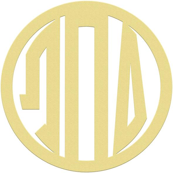 Greek Circle Frame Letter Monogram WS