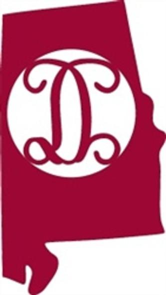 Alabama Framed Monogram Letter WS