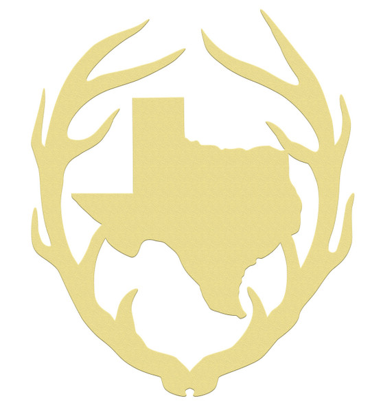 Antler Texas, Unfinished Cutout, Wooden Shape, MDF DIY Craft WS