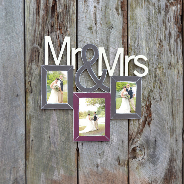 Mr and Mrs  2 Unfinished Picture Frame WS