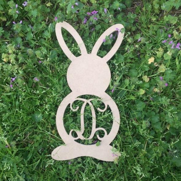 Rabbit With Earholes Letter Monogram WS