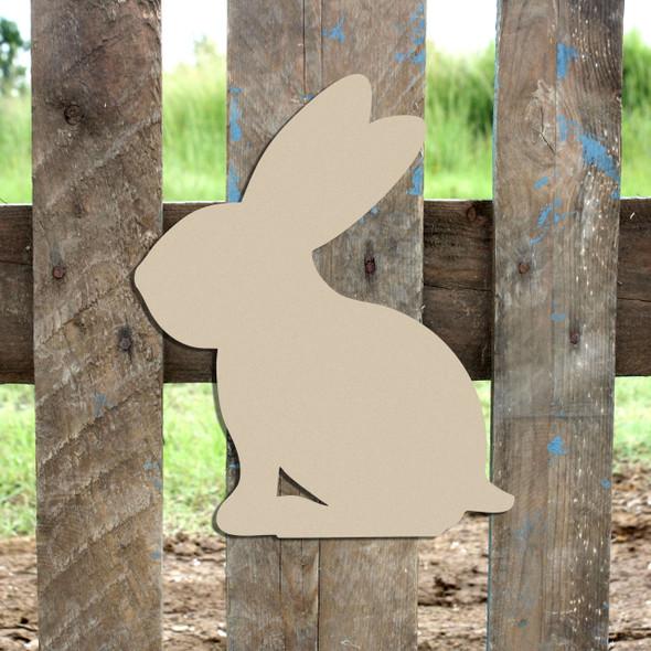 Woodland Bunny Unfinished MDF Cutout WS