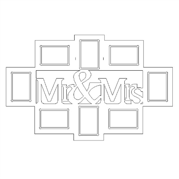 Mr & Mrs Collage Unfinished Picture Frames