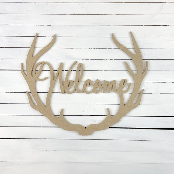 Welcome Antler Unfinished WS