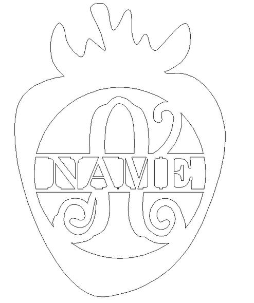 Strawberry Frame Family Name, Unfinished Framed Monogram WS