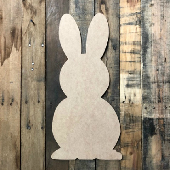 Bunny 2 Unfinished MDF Cutout WS