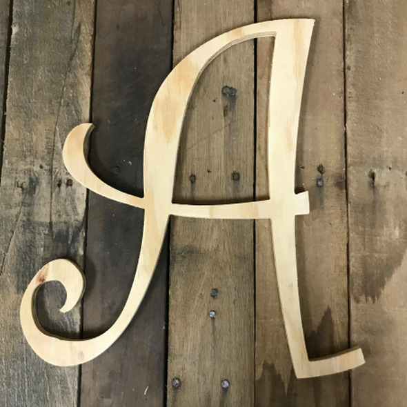 Pine Curlz Uppercase Letters WS