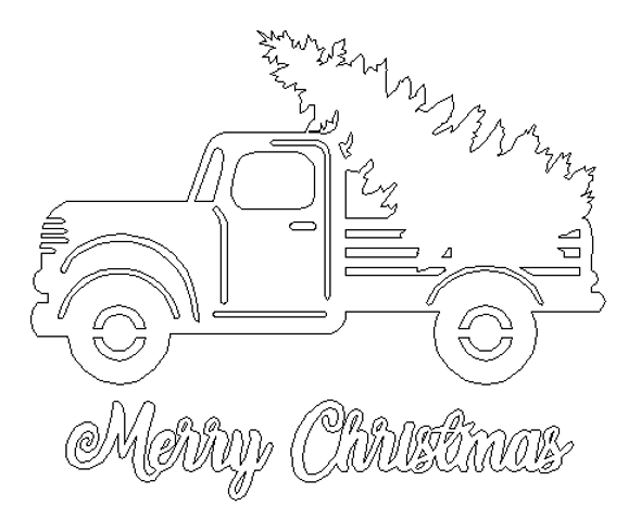 Merry Christmas with Truck WS