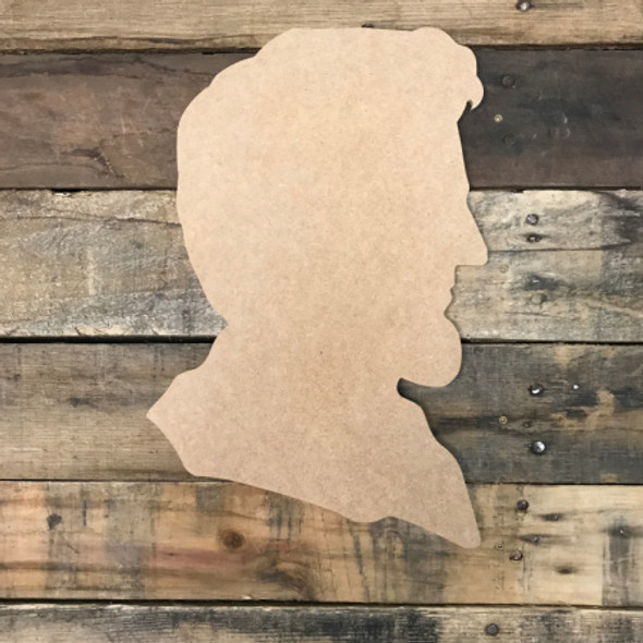 Abraham Lincoln, Unfinished Cutout, Craft Wood Shape