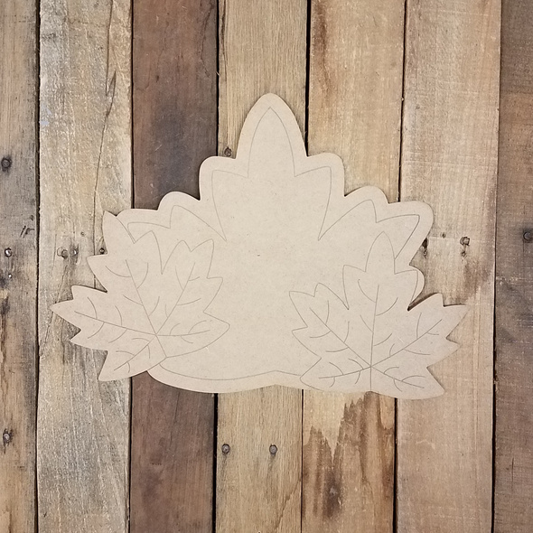 Fall Leaf Cluster, Unfinished Decor Shape, Paint by Line WS