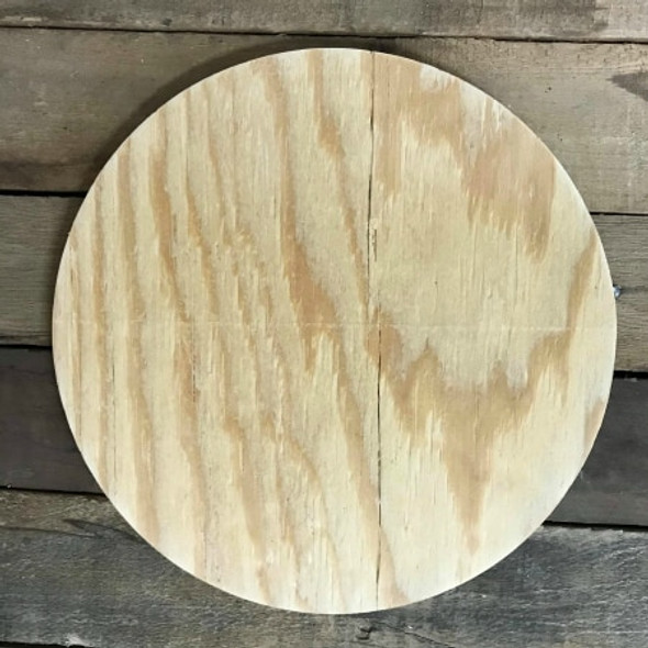 "CLEARANCE IN-STOCK 18"" KNOTTY YELLOW PINE Circle, Plain MDF Wooden Circle, Discounted, Limited Quantity WS"