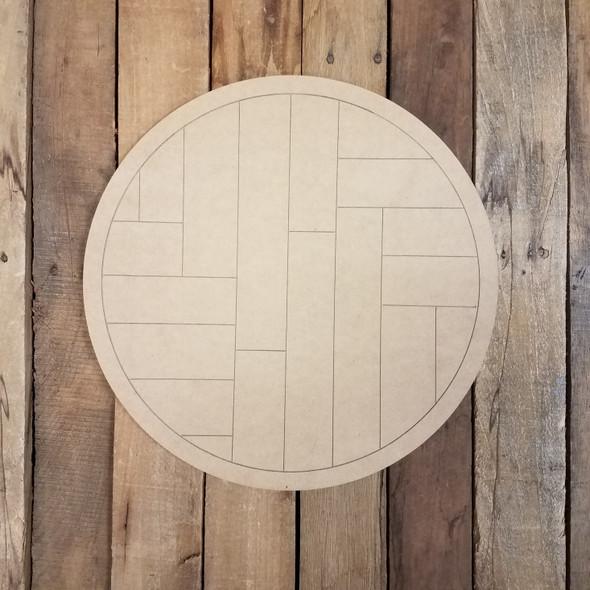 Geometric Art Pattern Circle, Unfinished Wood Shape WS