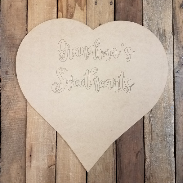 "18"" Custom Engraved Heart with King Basil Font"