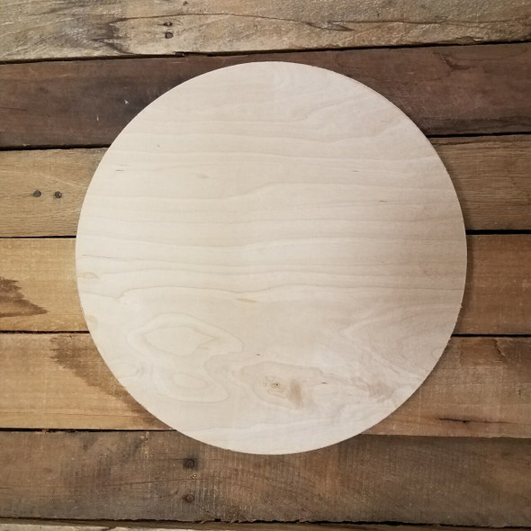 "CLEARANCE IN-STOCK 8"" WHITE PINE Circle, Plain MDF Wooden Circle, Discounted, Limited Quantity WS"