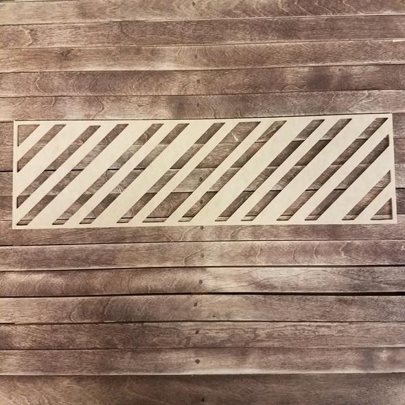 Chevron Wall Art Décor, Wooden Craft Shape WS