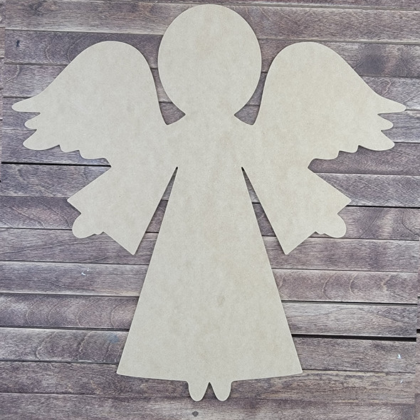 Angel With Wings, Wooden Craft Shape, Paintable MDF Craft
