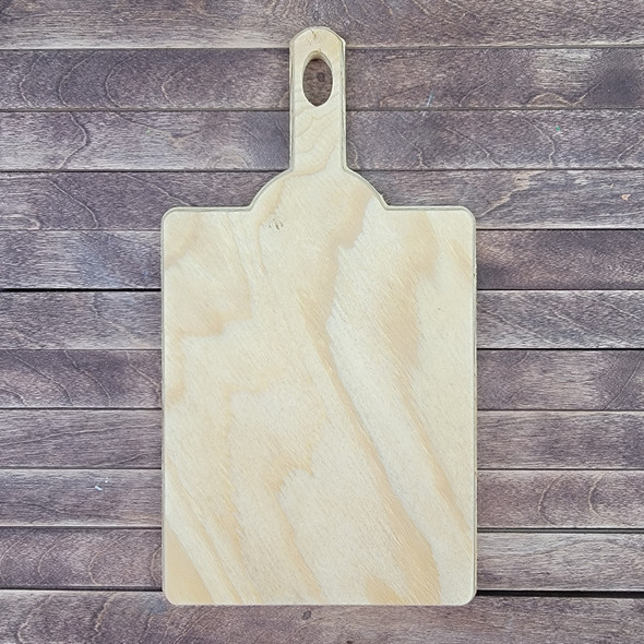 Original Style Bread Board With Handle, Unfinished Wood Cutout