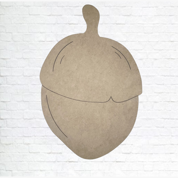 Acorn, Unfinished Wood Cutout, Paint by Line, WS