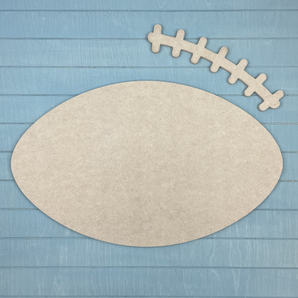 Football Engraved Name with Dimensional Thread, Unfinished WS