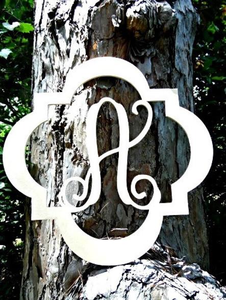 Evie Monogram Letter, Frame Wooden - Unfinished  DIY Craft WS