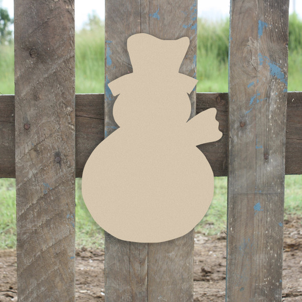Snowman with Scarf Unfinished Cutout WS