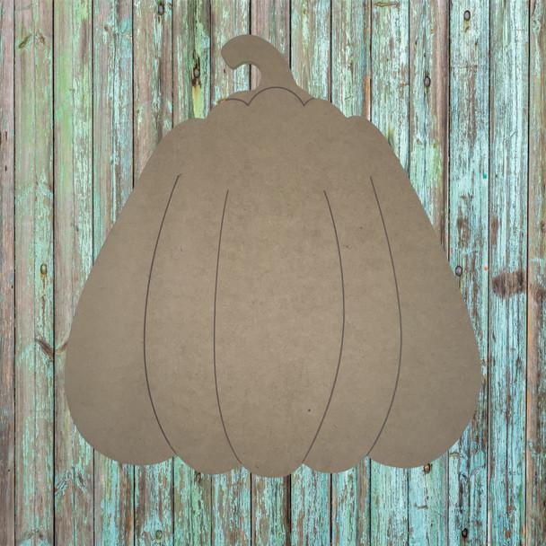 Autumn Pumpkin, Unfinished Wood Cutout, Paint by Line, WS
