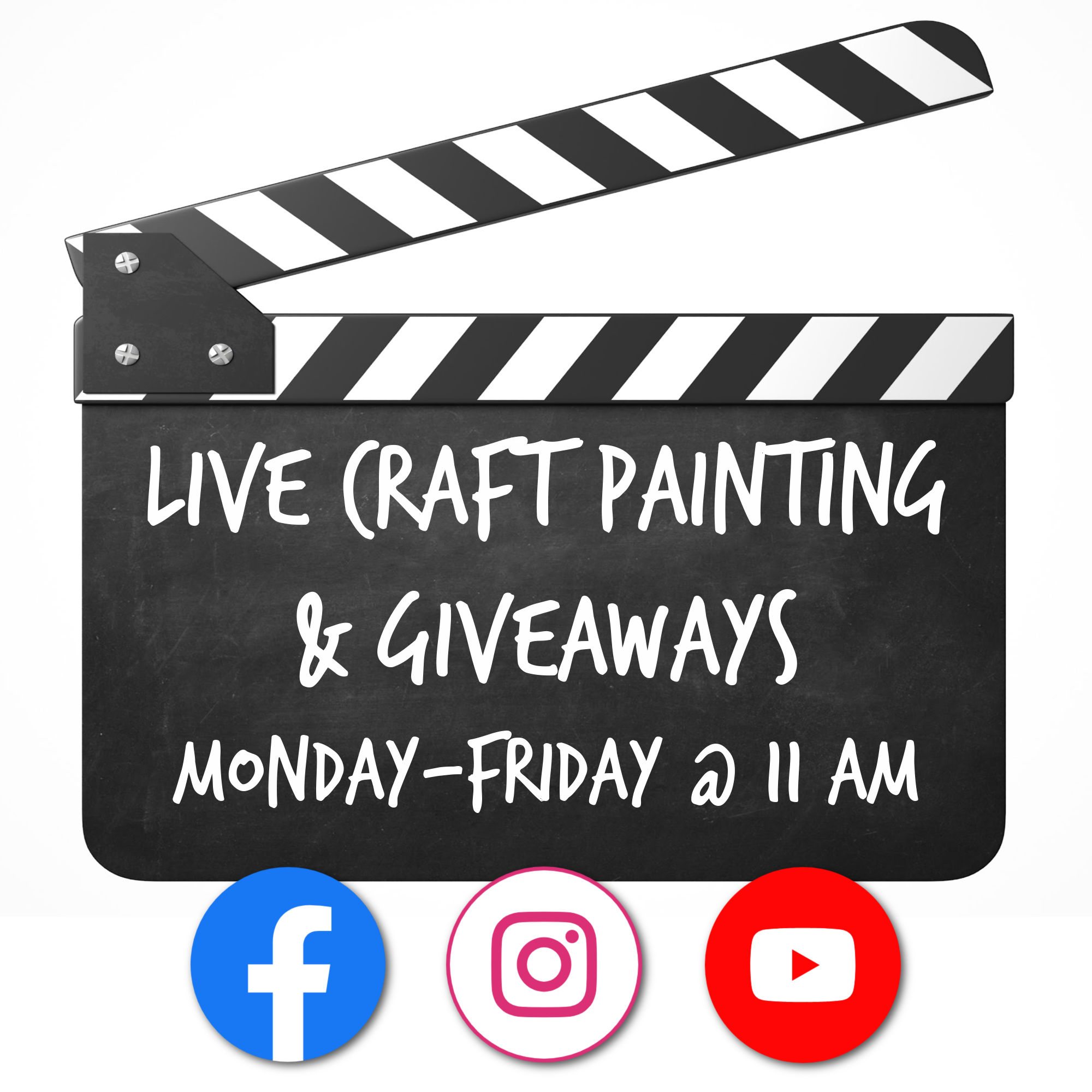 Live Painting and Giveaways on Social Media