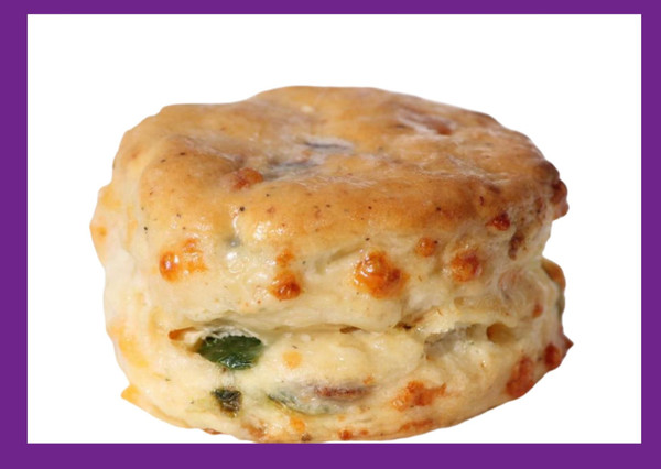 """Bacon Cheddar Jalapeno-Nothing like a bacon, cheddar & jalapeño gourmet biscuit aka """"the scooter"""" to start your day."""