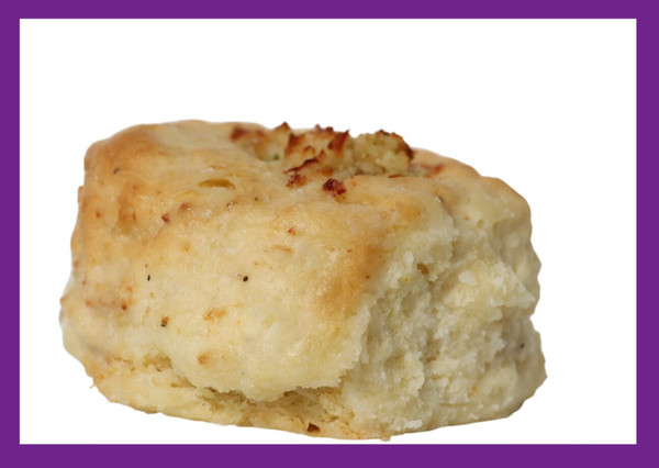 Chicken Pot Pie-Your favorite two things finally meet--chicken pot pie and biscuits. This savory blend is filled with our homemade savory chicken pot pie, and special herb blend is great as a meal replacement (you add the side).    *contains: egg