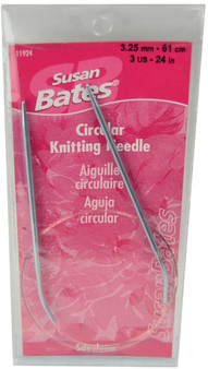 "Susan Bates Silvalume 24"" Circular Knitting Needle (Size US 3 - 3.25 mm)"