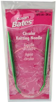 "Susan Bates Silvalume 24"" Circular Knitting Needle (Size US 10.5 - 6.5 mm)"