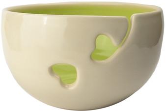 Lime Ceramic Yarn Bowl by Madeleine Coomey
