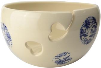 Flower Design Ceramic Yarn Bowl by Madeleine Coomey