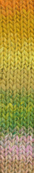 Noro #415 Green, Yellow, Brown Kureyon Yarn (4 - Medium)