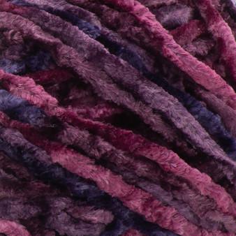 Bernat Burgundy Crushed Velvet Yarn (5 - Bulky)